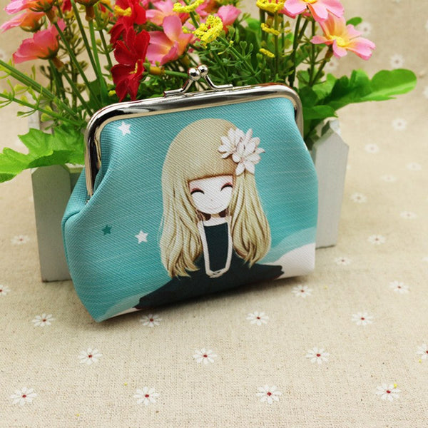 2018 New Little Girl Lovely Zero Purse Creative Cartoon Printing Women Coin Wallet PU Leather Practical Kids Purse Small Bag - thefashionique