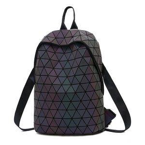 2018 New Luminous Irregular Triangle Sequin Backpack for Women Fashionable Rucksack Female Backbag Korean - thefashionique