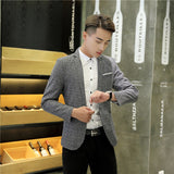 2018 New Mens Blazer Spring Fashion Suits For Men Top Quality Blazers Slim Fit Jacket Outwear Coat Homme Formal Suit Blazer Men - thefashionique