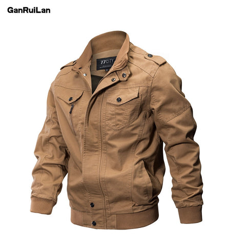 2018 New Military Jacket Men Winter Cotton Jacket Coat Army Men's Pilot Jackets Air Force Spring Cargo Large size 6XL JK18018