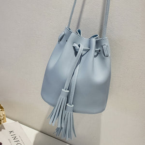 2018 New Women Bag Japan Style Fringes Bags For Women 2018 Drawstring Buckets Single Women Messenger Bag sling bag female pouch - thefashionique