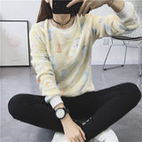 2018 New Women's Cute Print Hoodie Winter Long Sleeve Casual Sweatshirt Moleton Women's Oversized Clothing - thefashionique