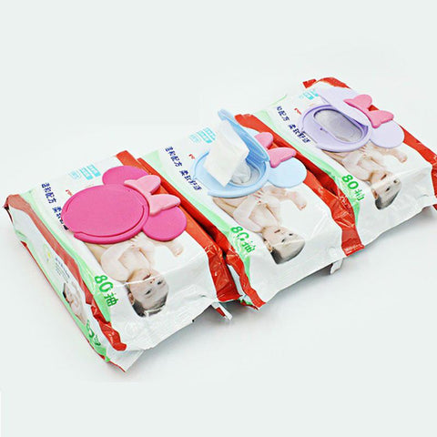 2018 Portable Baby Wipes Lid Baby Wet Wipes Cover Child Wet Tissues Lid Cartoon Mobile Wipes Wet Paper lid Useful Accessories