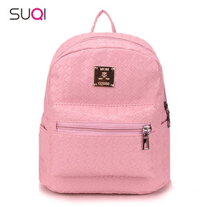2018 Small Pu Leather Backpack Girl,Female Weave Shoulder Bag,New Travel Small Women Backpack,cute kid Rucksack Mochila Bagpack - thefashionique