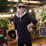 2018 Spring Autumn Winter Tracksuit For Women Hoody Jacket Thicken Warm Plus Velvet Long Sleeve Sweatshirt National Wind Hoodies - thefashionique