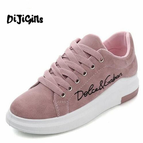 2018 Spring New Designer Wedges Pink Platform Sneakers Women Vulcanize Shoes Tenis Feminino Casual Female Shoes Woman