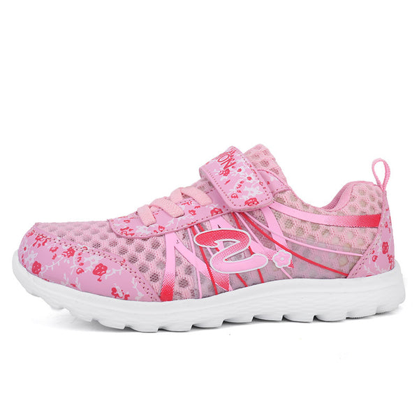 2018 Spring Summer children breathable sneakers comfortable mesh girl sports shoes fashion casual boys shoes pink purple white - thefashionique