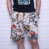 2018 Summer Casual Shorts Men Trousers Male Camouflage Fashion Flowers Print Straight Short Beach Mens Short free shipping - thefashionique