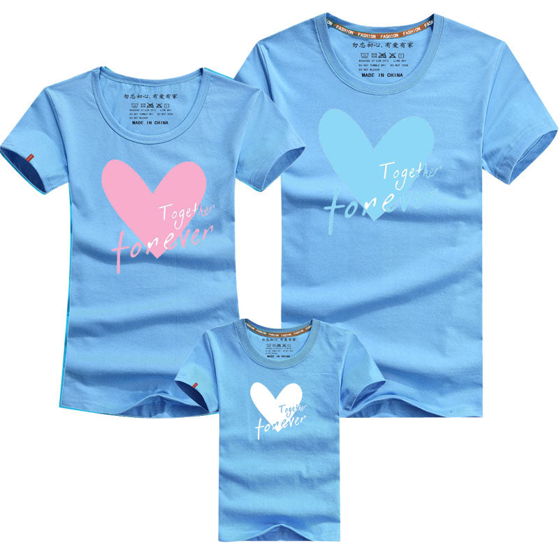 2018 Summer Family Matching Clothing Family Look T-shirt Mother Son Outfits Love Mother and Daughter Clothes Cotton Letter Style - thefashionique