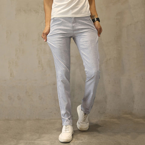 ebfba65a4d47 2018 Summer New Men s Linenn Pants Casual Slim Fit Pants Fashion Business  Dress Thin Trousers Casual