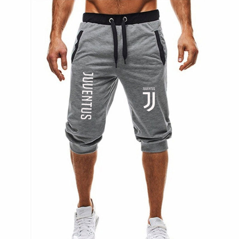 2018 Summer New Mens shorts juventus Printed Casual Fashion Jogger Knee Length Sweatpants Man Fitness Drawstring shorts - thefashionique