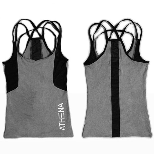 2018 Summer Sexy Harness Women Tank Tops Female Dry Quick Loose Fitness Vest Singlet For Exercise Women's Workout T-Shirts - thefashionique