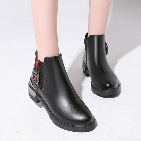 2018 Winter New Thick Heels Classic Fashion Boots Women Shoes
