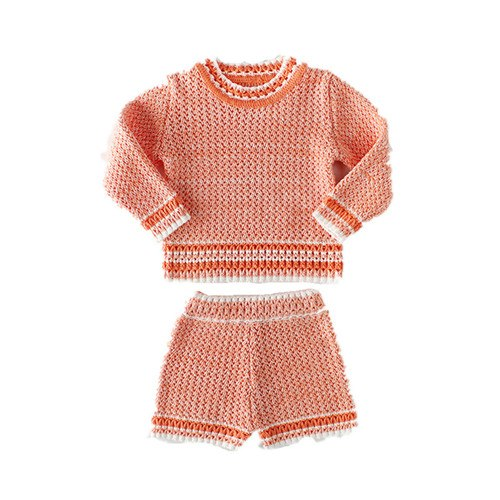 be7c08e2f 2018 autumn winter new baby girls knitted clothing sets boys clothes b
