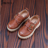 2018 new British style boys casual leather shoes for children tooling leather shoes boy for 1-6 years kids leather shoes - thefashionique