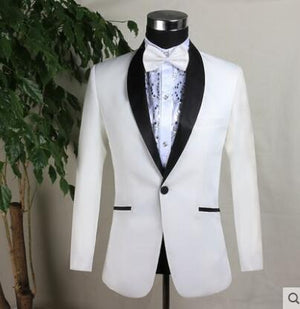 2018 new arrival slim men suit england mens wedding suits formal dress men's groom suit fashion singer dance stage blue white - thefashionique