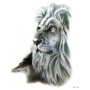 2018 new arrives cool lion Tattoo Cool Beauty Sexy Tattoo Waterproof Temporary Tattoo Stickers art body  make up leg arm for boy - thefashionique