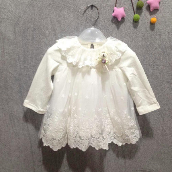 2018 new girl dress European style baby dress baby girls clothes cotton baby girl christening gowns pink - thefashionique