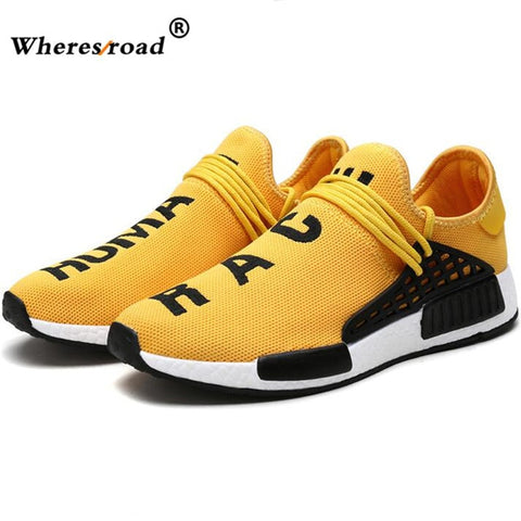 2018 wheresroad Human Race Yellow Casual Shoes Men's Comfortable Fashion Sneakers Light Summer Spring Man Ultra Boosts size39-47 - thefashionique