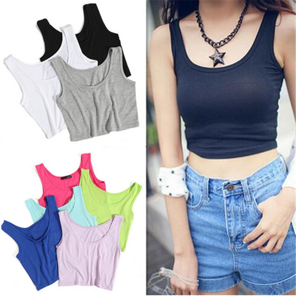 2019 Hot new sexy camis women high quality and thin shirt vest round neck collar temptation sleeveless ladies bodysuit T-shirt - thefashionique