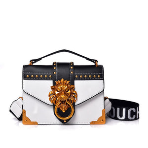 2019 INS woman fashion Teenagers girl hip hop shoulder bags with metal lion buckle lady crossbody packs women sling travel totes