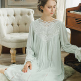 2019 Lace Nightgowns Sleepshirts Home Dress Sleep & Lounge Nightdress Sexy Nightgown Female Night Wear Solid Sleepwear #H362 - thefashionique