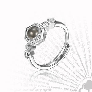 2019 New Arrival Rose Gold&Silver 100 languages I love you Projection Pendant Ring Romantic Love Memory Wedding Ring Jewelry - thefashionique