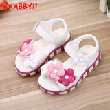 2019 New Arrivals Sandals For Girls Baby Shoes Size 21-30 Fashion Summer Flower Girls Sandals Shoes Princess Shoes - thefashionique