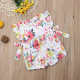 2019 New Cute Flower Infant Baby Girls Clothing Ruffles Newborn Girl Rompers Summer Jumpsuit Playsuit Baby Girl Costume - thefashionique