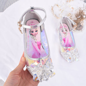 2019 New Girls Sandals High Heels Children Fashion Princess leather Elsa Shoes Chaussure Sandalias Nina  girls party shoes - thefashionique