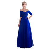 2019 New Hot Sale Red Bridesmaid Dresses Satin Tulle A-Line Royal Blue Sleeveless Wedding Party Prom Girl Dresses party dress - thefashionique