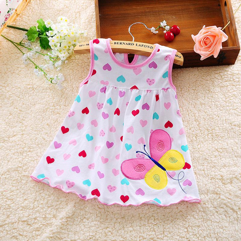 1262e6814a83 2019 New Style Baby Dress Princess For Infant Summer Stripes Baby Girl