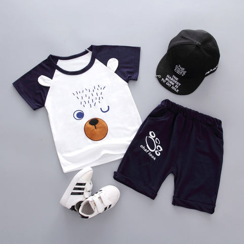 2019 New Summer Baby Boys Girls Clothes Infant Children Clothing Cartoon Kids T-shirt Shorts 2Pcs/set Fashion Sportswear Suits - thefashionique