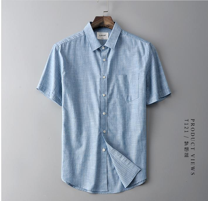 4e2daacef 2019 New arrival Summer Men Stripe Short sleeved Youth Casual Shirts 1