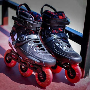 2019 Original Powerslide TAU TRINITY 3*90mm Carbon Fiber Speed Inline Skates Adult Roller Skating Shoes Free Skating Patines