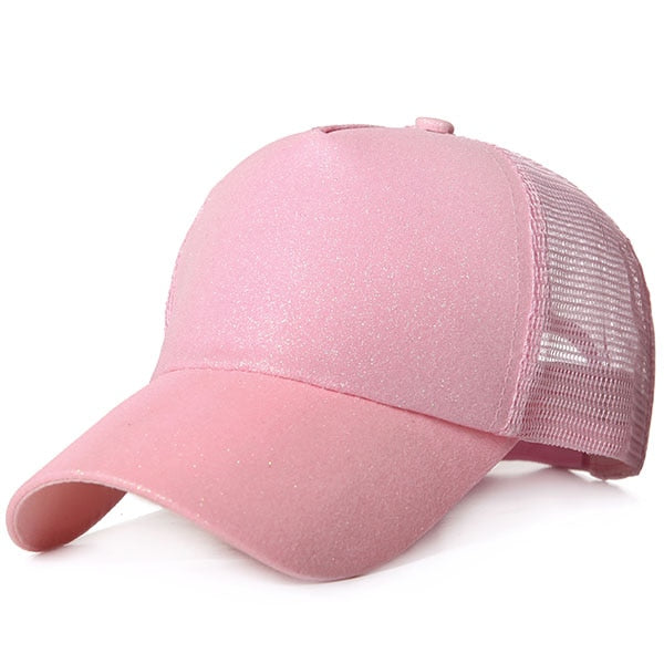 be9927b3e86 2019 Ponytail Baseball Cap Women Messy Bun Snapback Summer Mesh Hats C