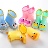 2019 Rain Boots Kids For Boy Girls Rain Boots PVC Water Shoes Children Cartoon Shoes Waterproof Rainboots Four Seasons Removable - thefashionique