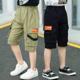 2019 Summer Boys for Pants Loose  Knee Length  Casual Streetwe Tactical Teen Sports Pants Boys Big Size 6 8 10 12 13 14 16 Years