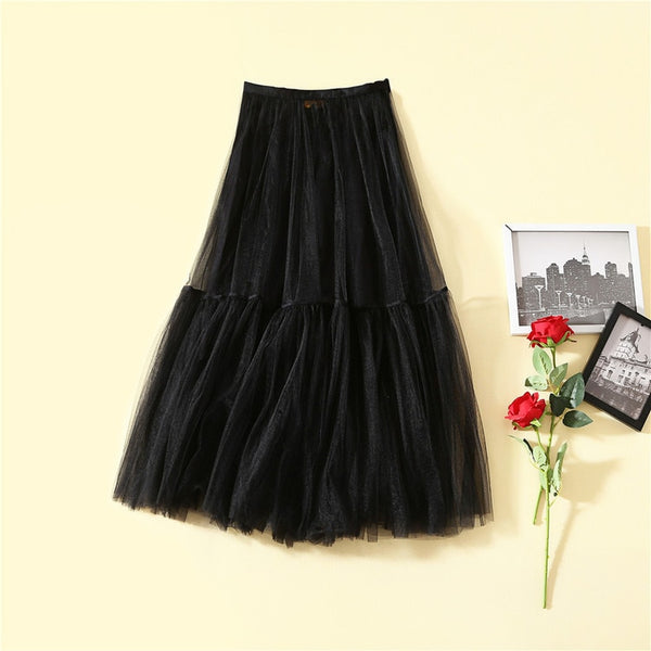 2019 Summer New Arrival Mesh Ball Gown Skirt Women's Skirt  181225XB02 - thefashionique