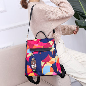 2019 hot high quality luxury brand casual Oxford backpack ladies waterproof bag girl high quality fashion travel handbag backpac - thefashionique