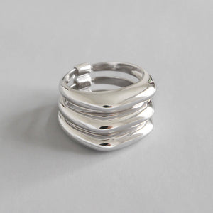 2019 new Multi-layer 100% 925 sterling silver rings for women bijoux, fashion engagement ring anelli donna silver 925 jewelry - thefashionique