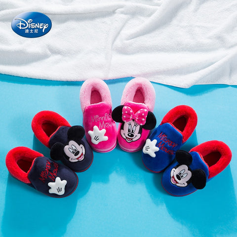 228335dcb52 2019 new cartoon cotton shoes Mickey autumn and winter warm cotton slippers  Parent-child Minnie