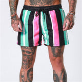 2019 new summer beach shorts men's fitness bodybuilding breathable quick-drying shorts gym men's casual jogging sports shorts