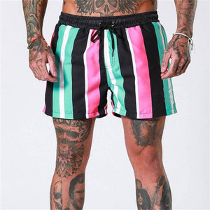 2019 new summer beach shorts men's fitness bodybuilding breathable quick-drying shorts gym men's casual jogging sports shorts - thefashionique