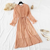 2019 spring Vintage Chiffon Floral Midi Dress Plus Size Maxi Boho Dresses Elegant Women Party Seven-quarter sleeve Dress Vestido - thefashionique