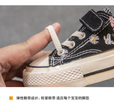 2020 Autumn New Low-Top Canvas for Boys Girls Cute Cartoon Toddler Casual Shoes Comfortable Hook Loop Board Shoes Anti-Slippery
