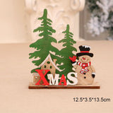 2020 DIY Christmas Wooden Puzzle Christmas Gifts for Children Christmas Decorations Christmas Ornaments Table Decor