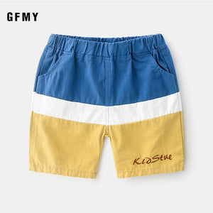 2020 GFMY Summer New Three-Color Stitching Leisure Boy Short Pant 18M Embroidered Letters Comfort Cotton Baby Short Pants