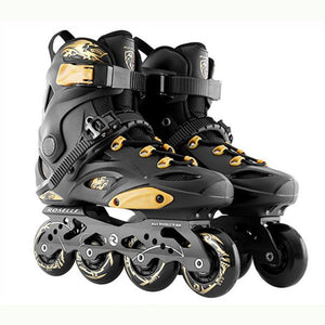 2020 Inline Skates Professional Slalom Adult Roller Skating Shoes Sliding Free Skate Patins Size 35-44 Good As SEBA Sneakers