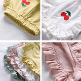 2020 New Arrival Summer Wear Thin Casual Children Baby Trousers Of The Cotton Elastic Waist Character Girls Kids Shorts Loose